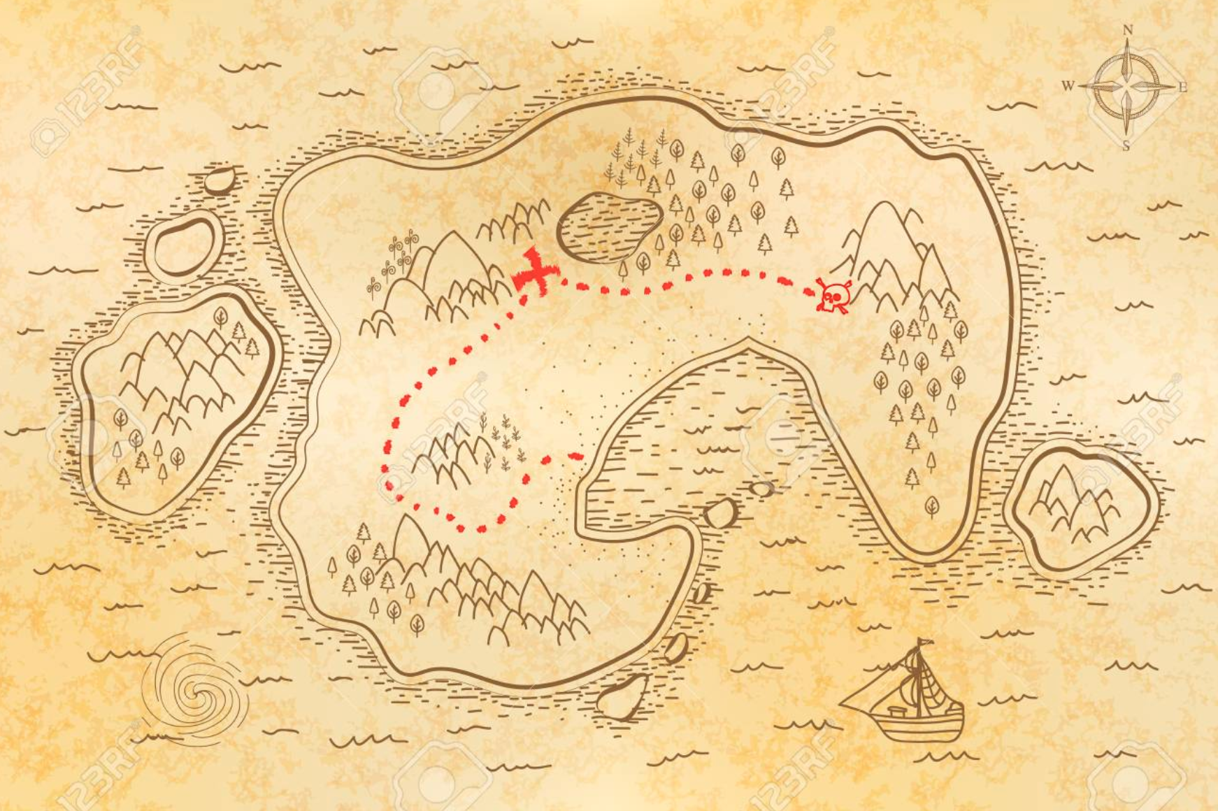 Creating (and following) your personal pirate map
