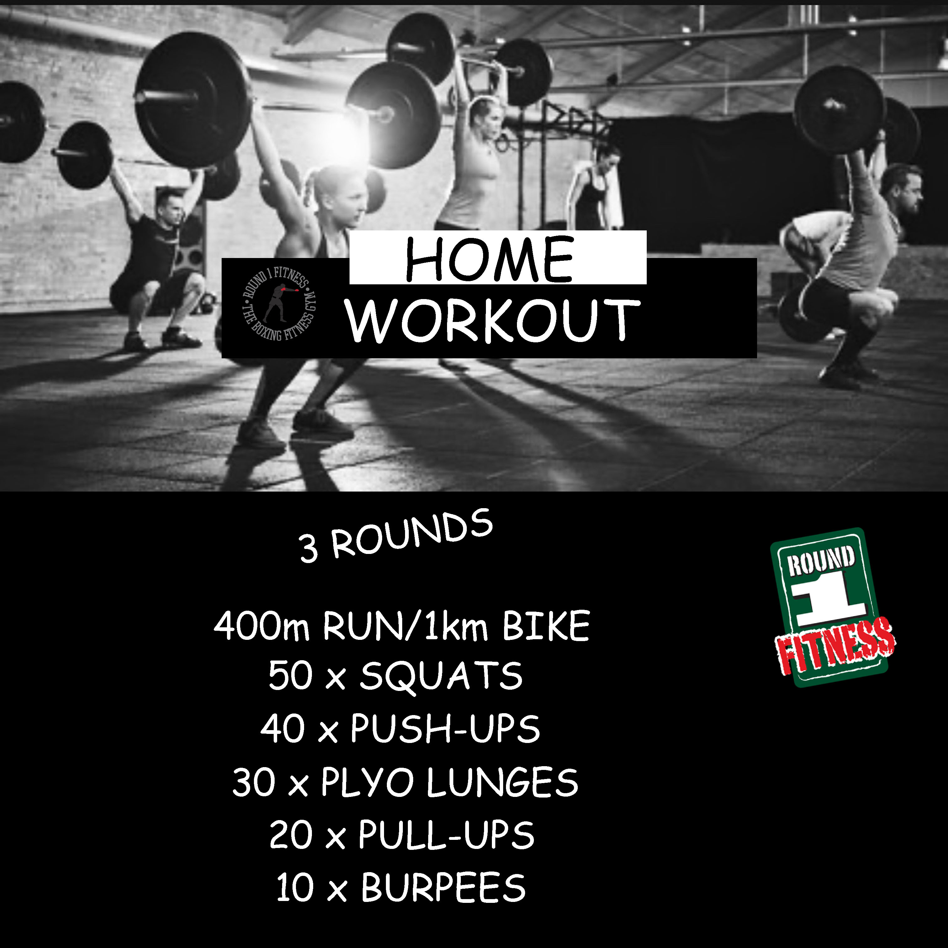 Home Workout:  Friday, March 27th