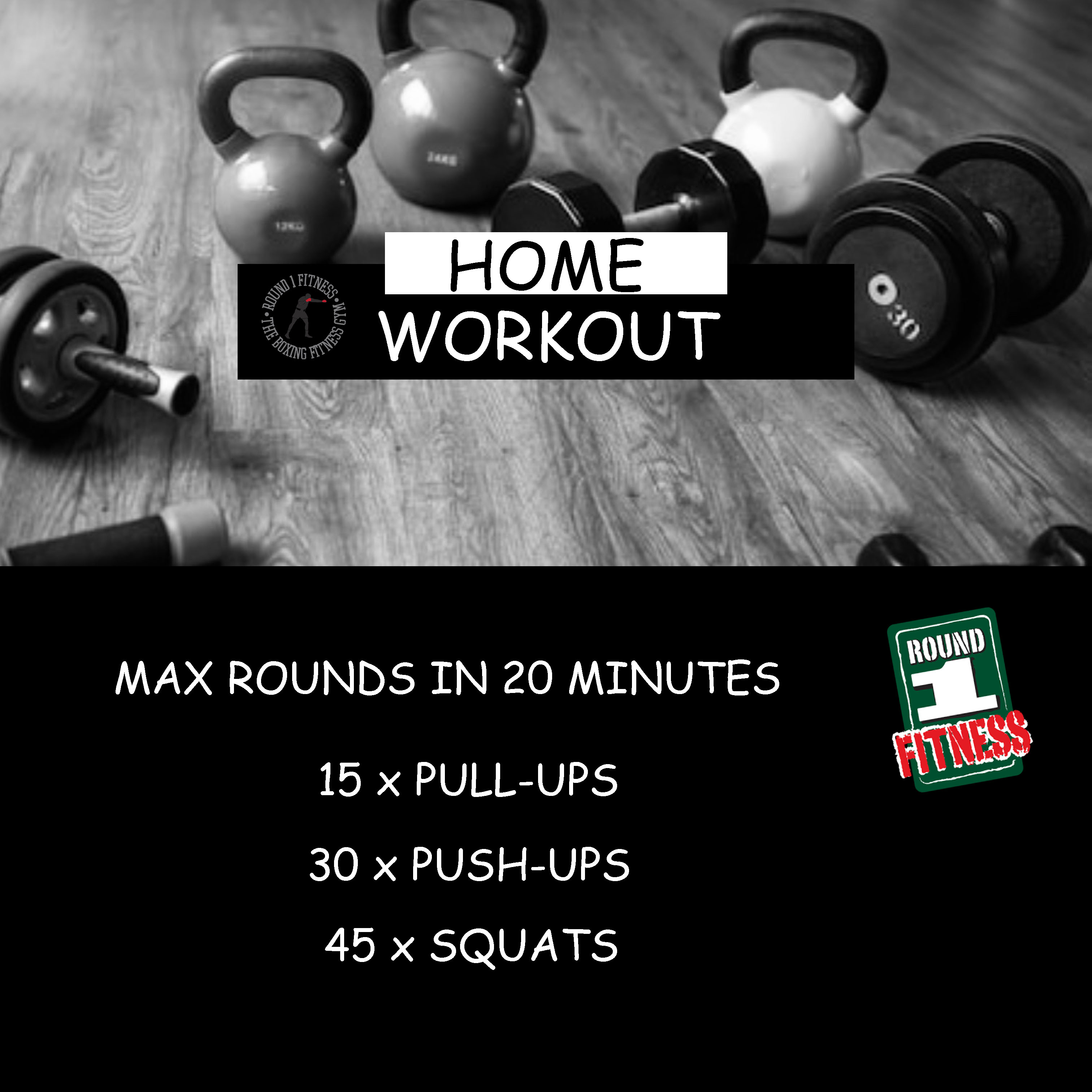Home Workout:  Monday, March 30th