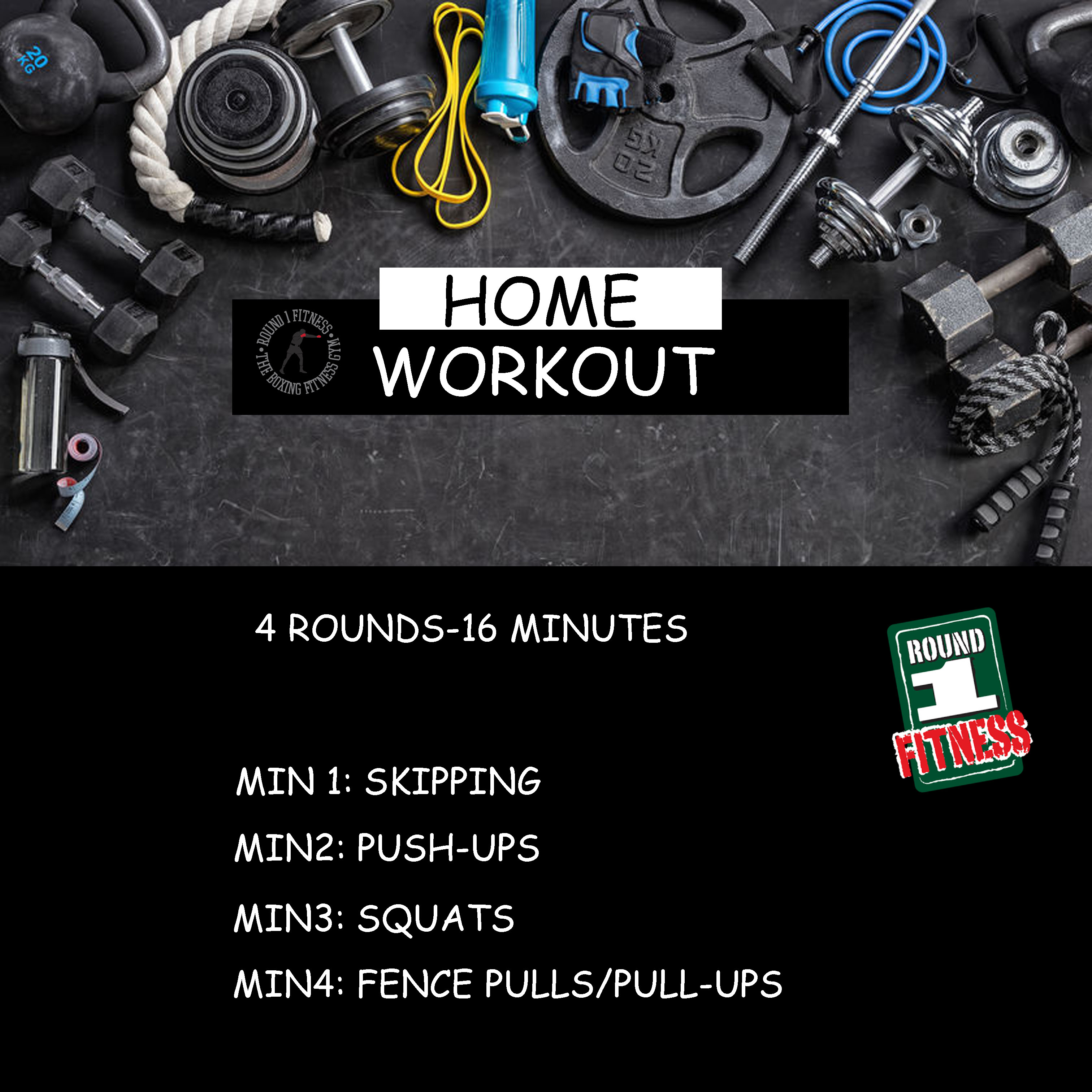 Home Workout:  Friday, May 1st