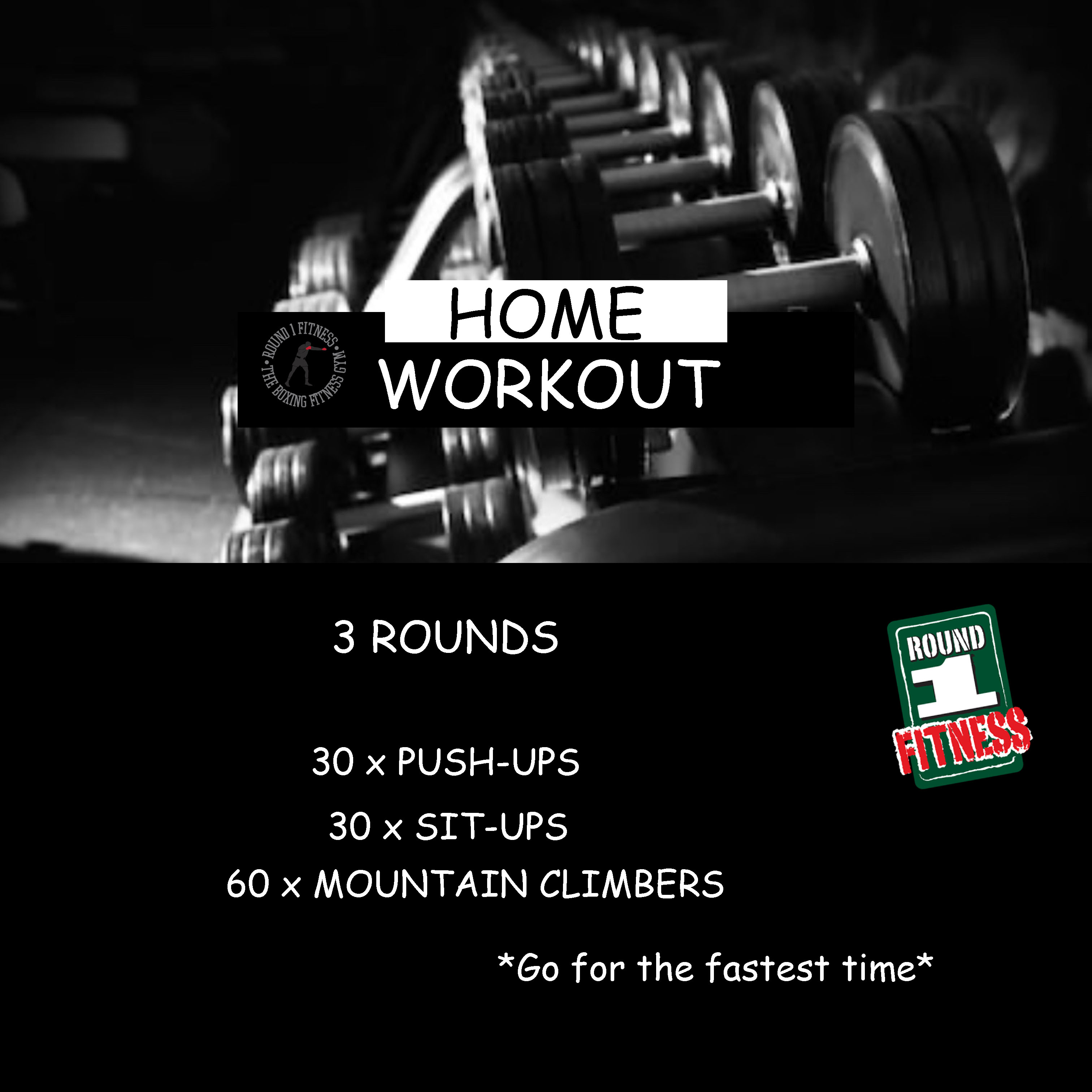 Home Workout:  Friday, April 3rd