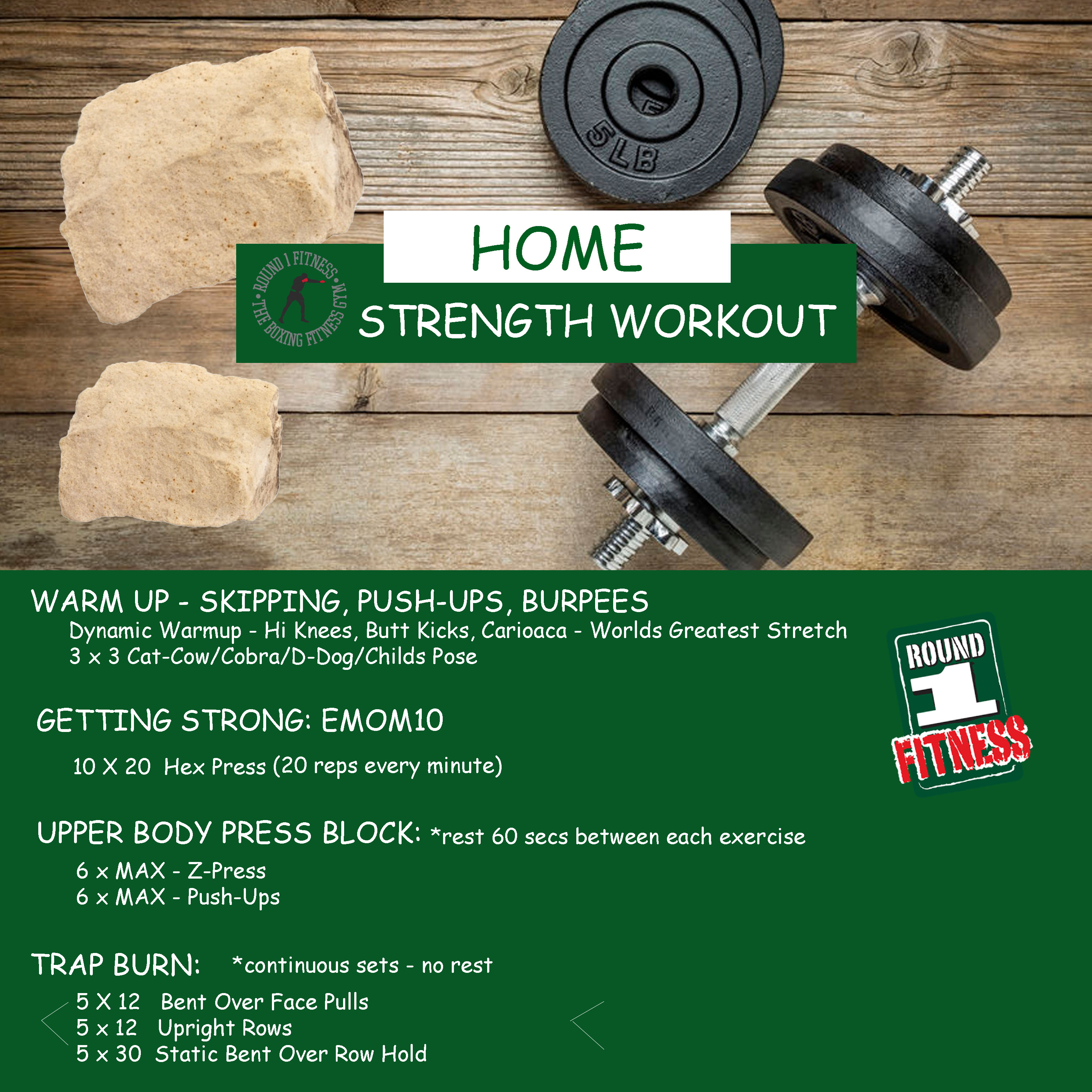 At Home Strength – Week 5, Day 3