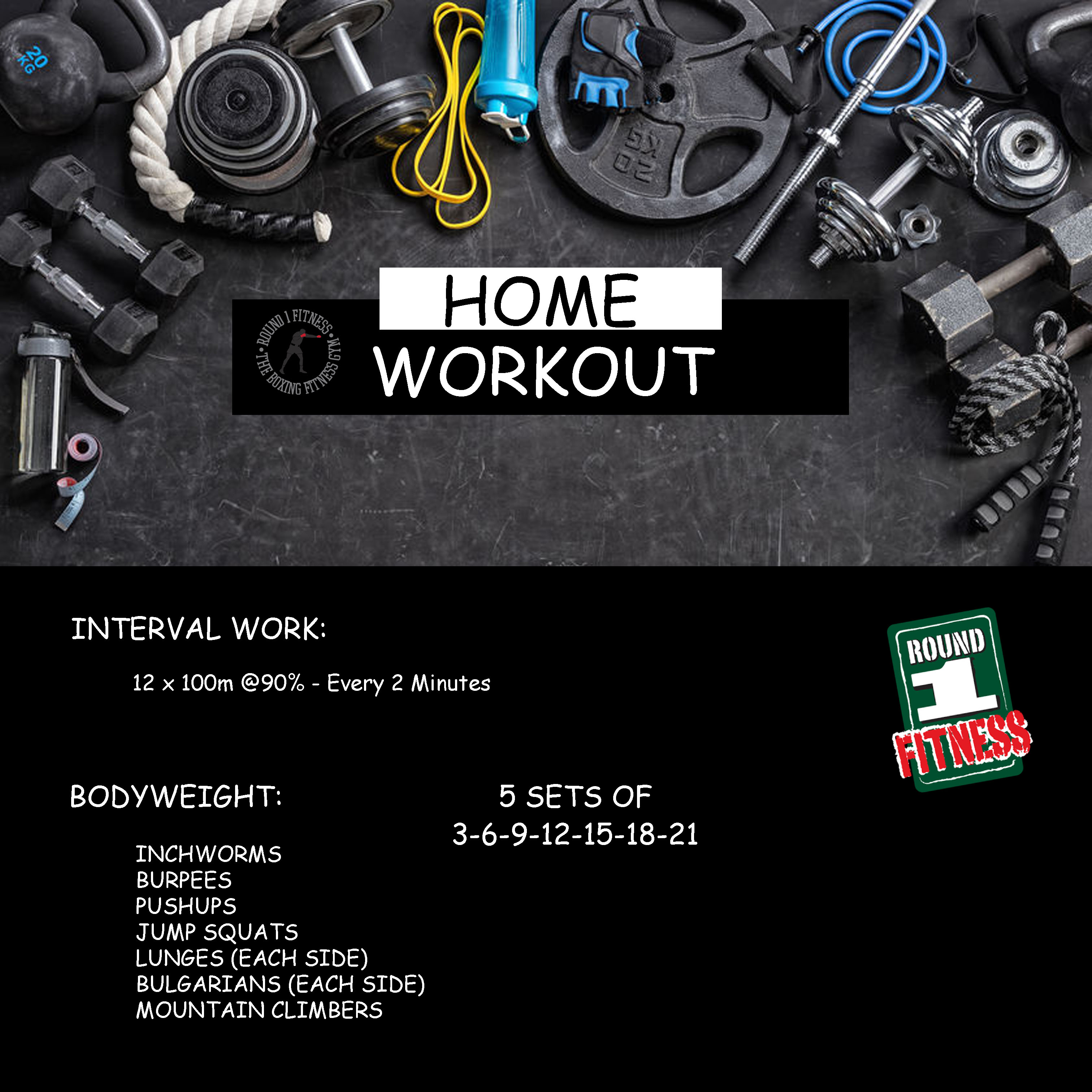 Home Workout:  Tuesday May 12th