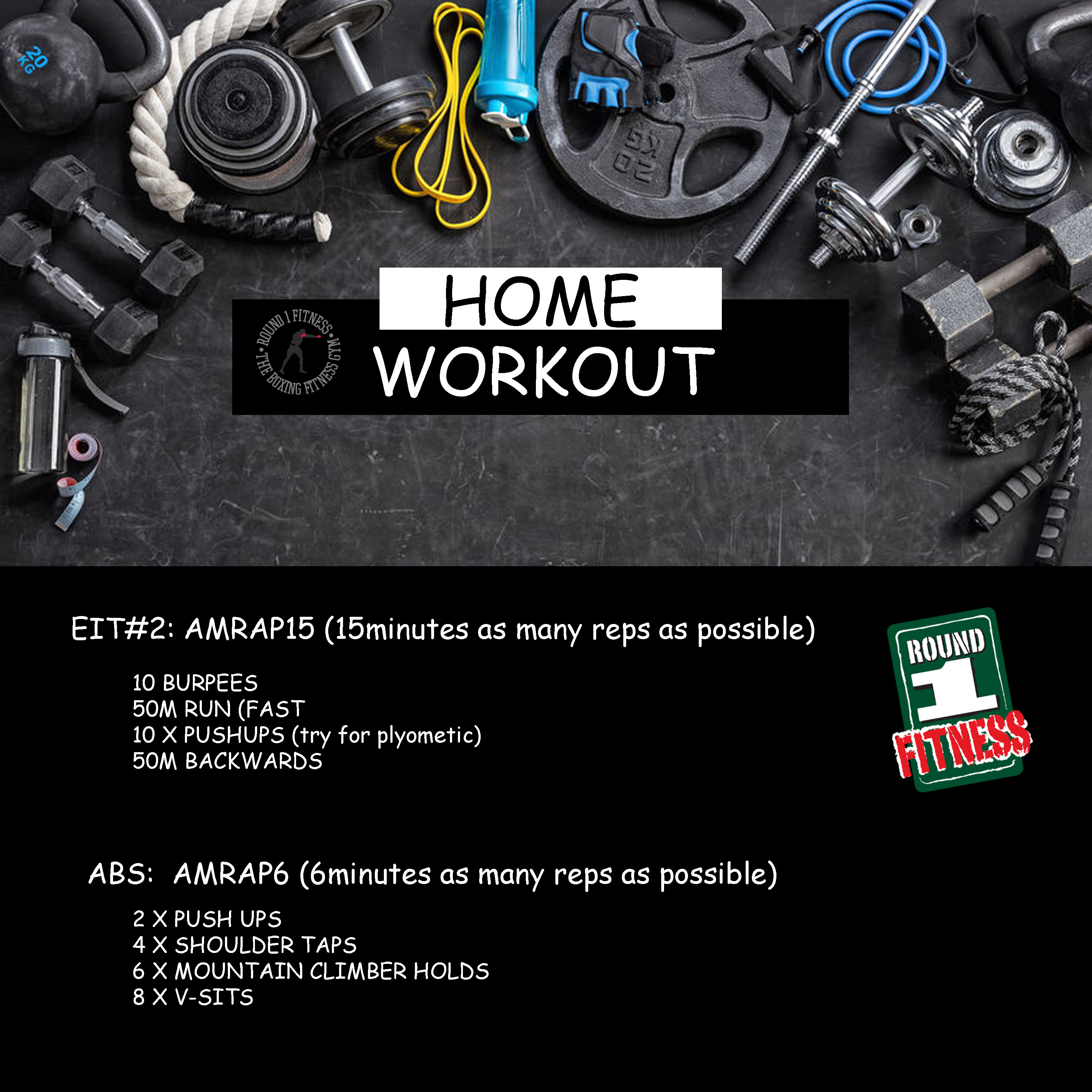 Home Workout:  Wednesday May 13th