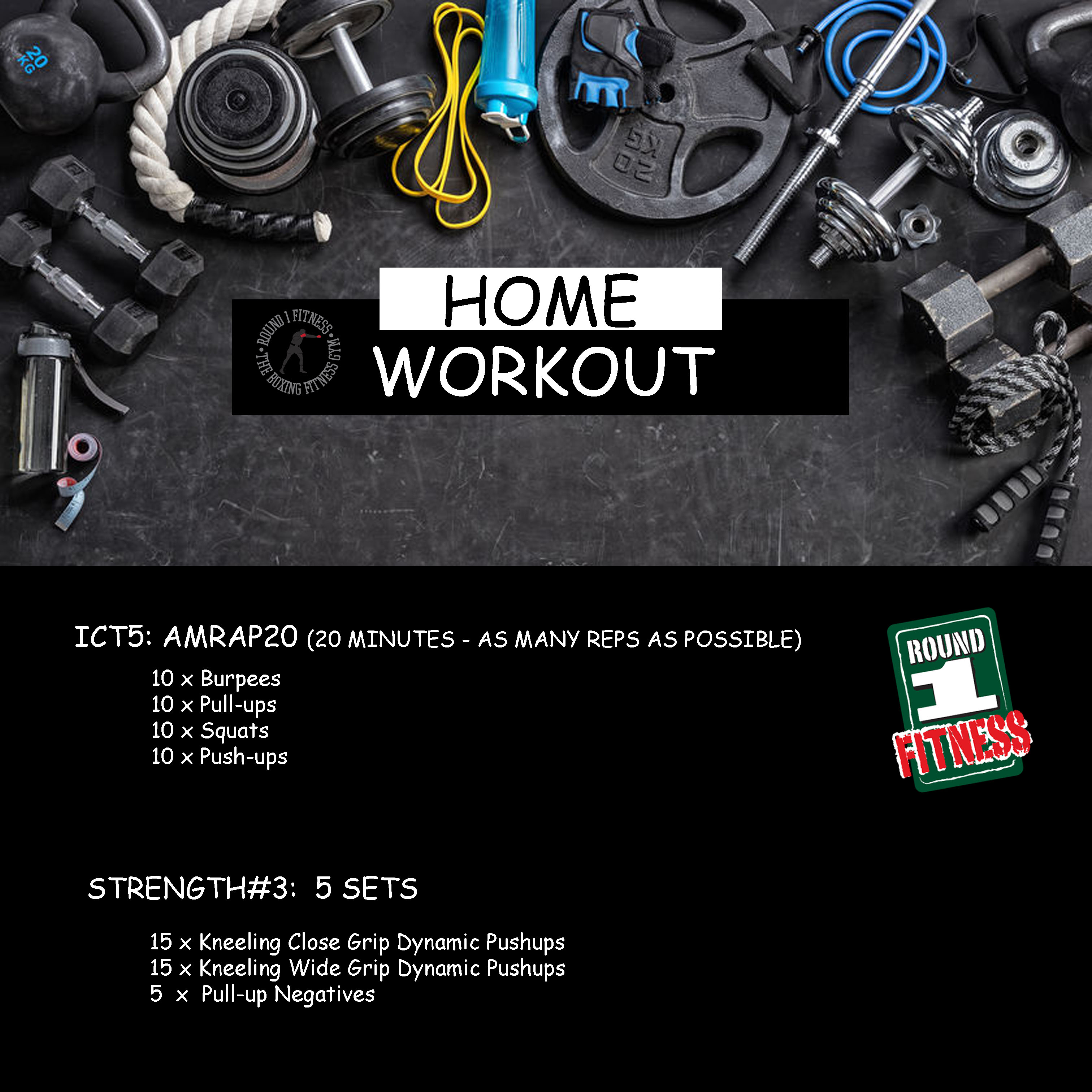 Home Workout:  Friday, May 15th