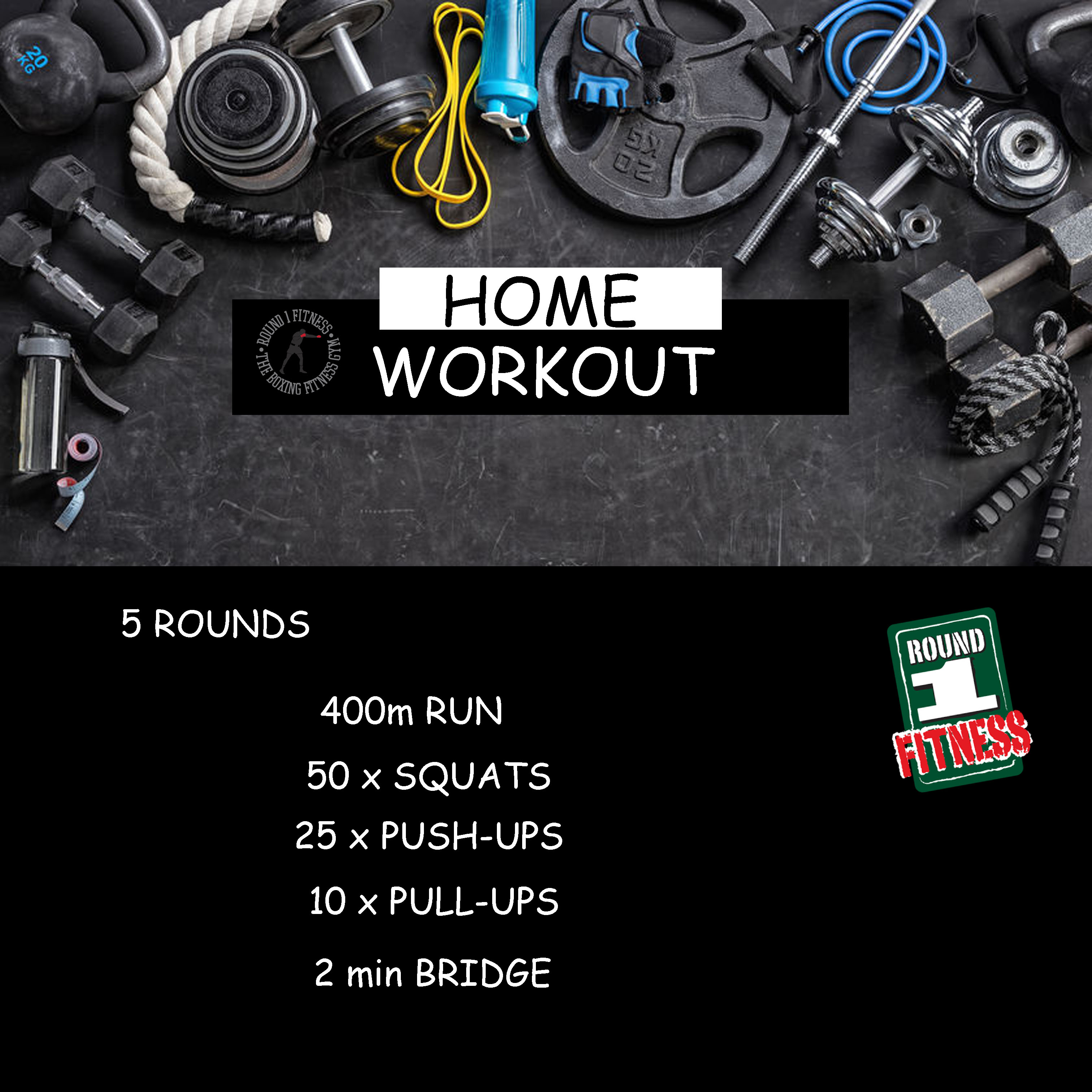 Home Workout:  Saturday, May 2nd