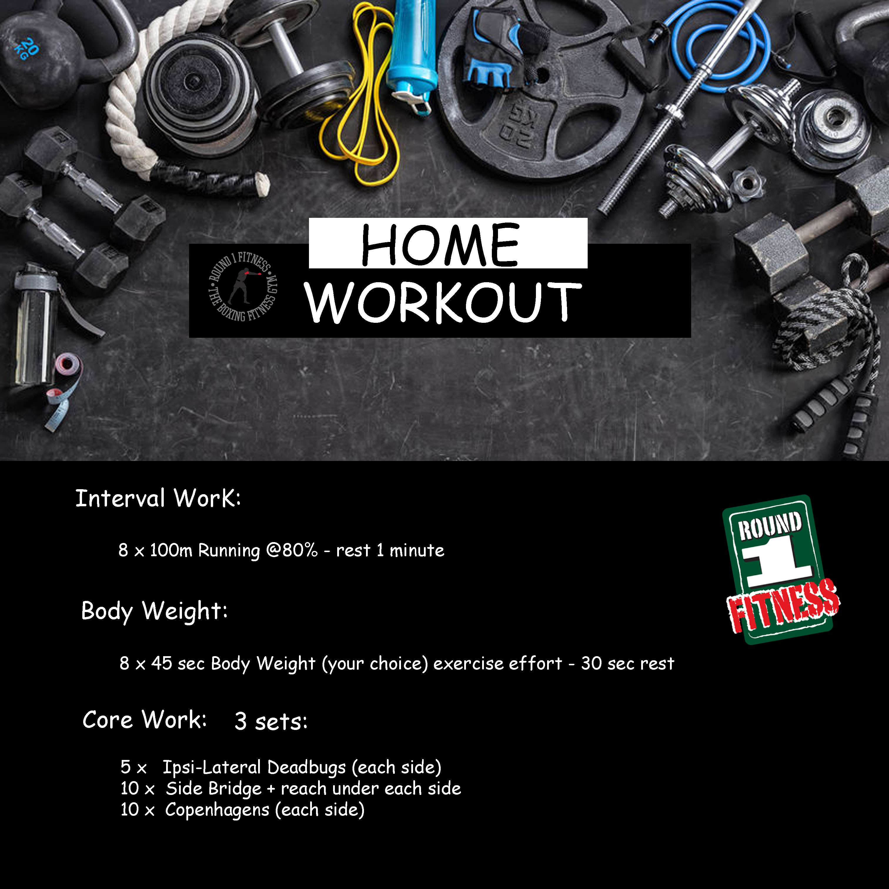 Home Workout:  Sunday, May 3rd