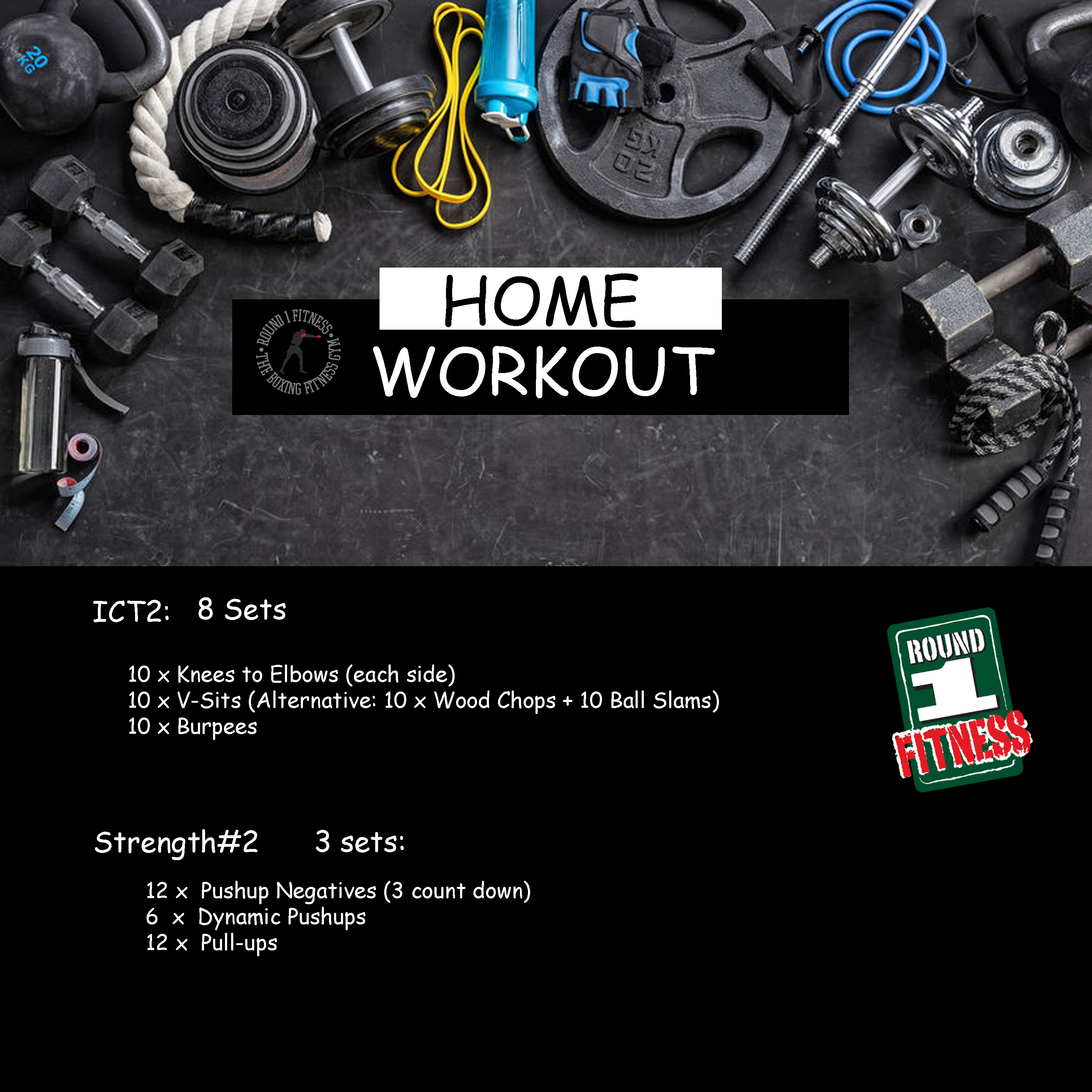 Home Workout:  Monday, May 4th
