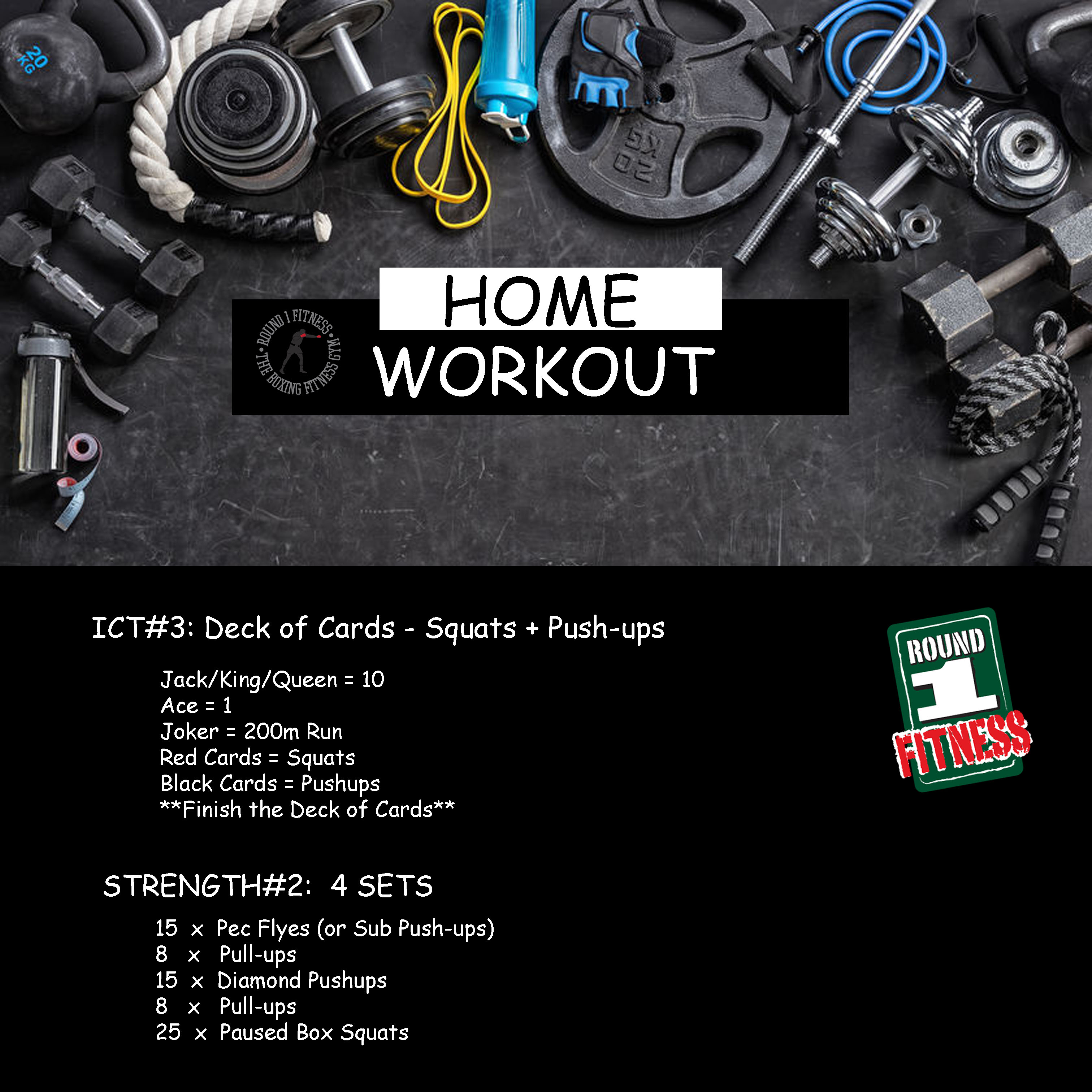 Home Workout:  Friday, May 8th