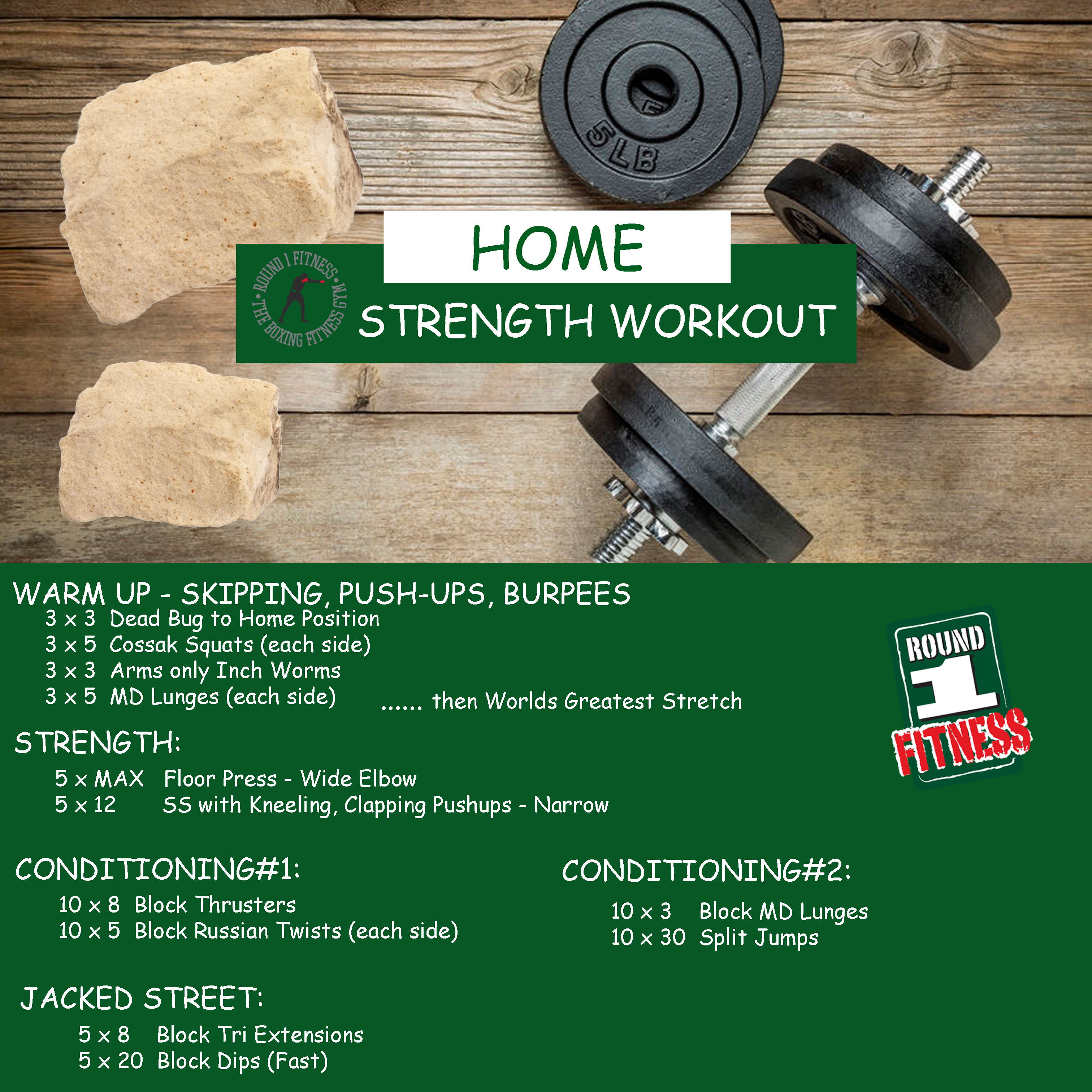 Home Workout:  Monday May 11th