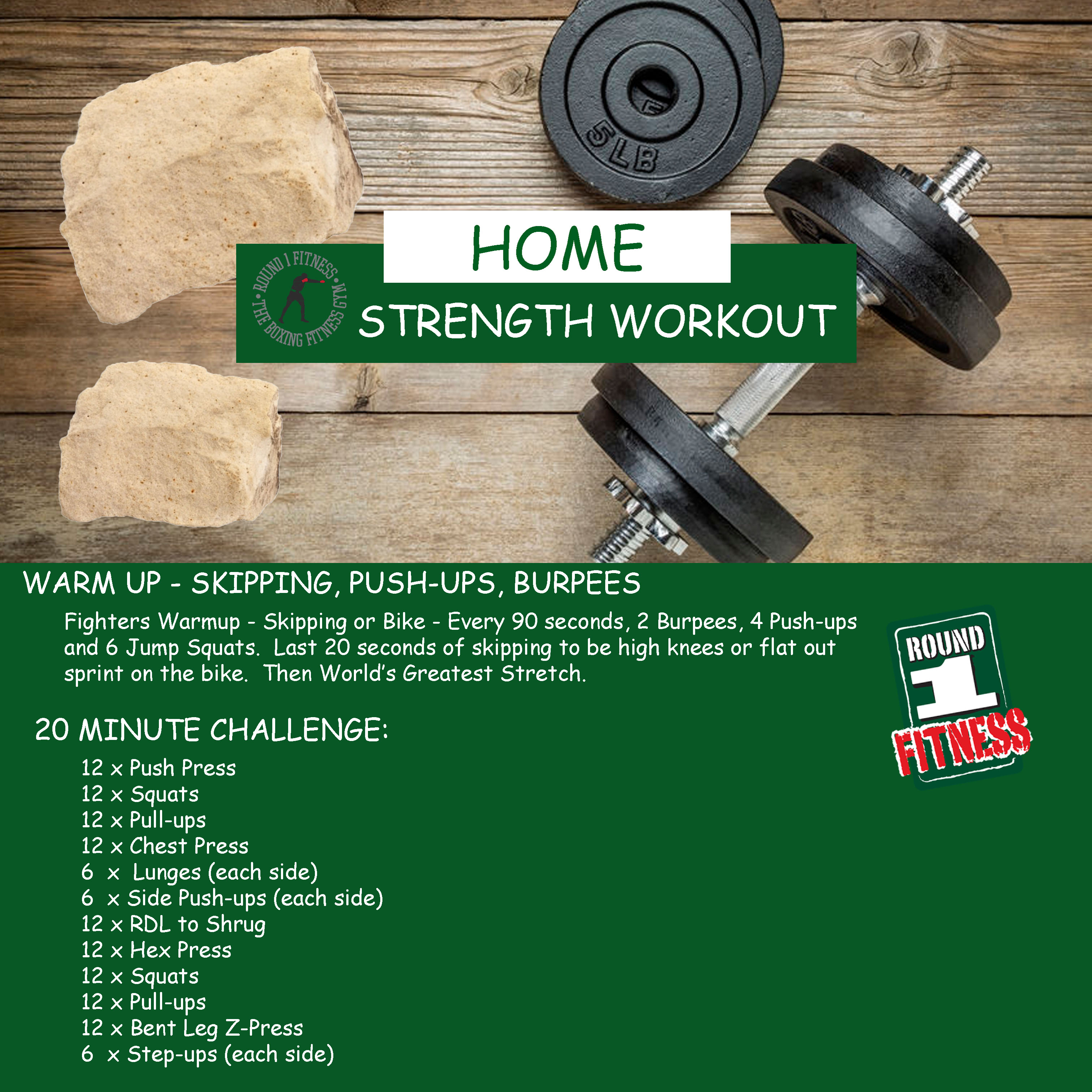At Home Strength – Week 6, Day 1