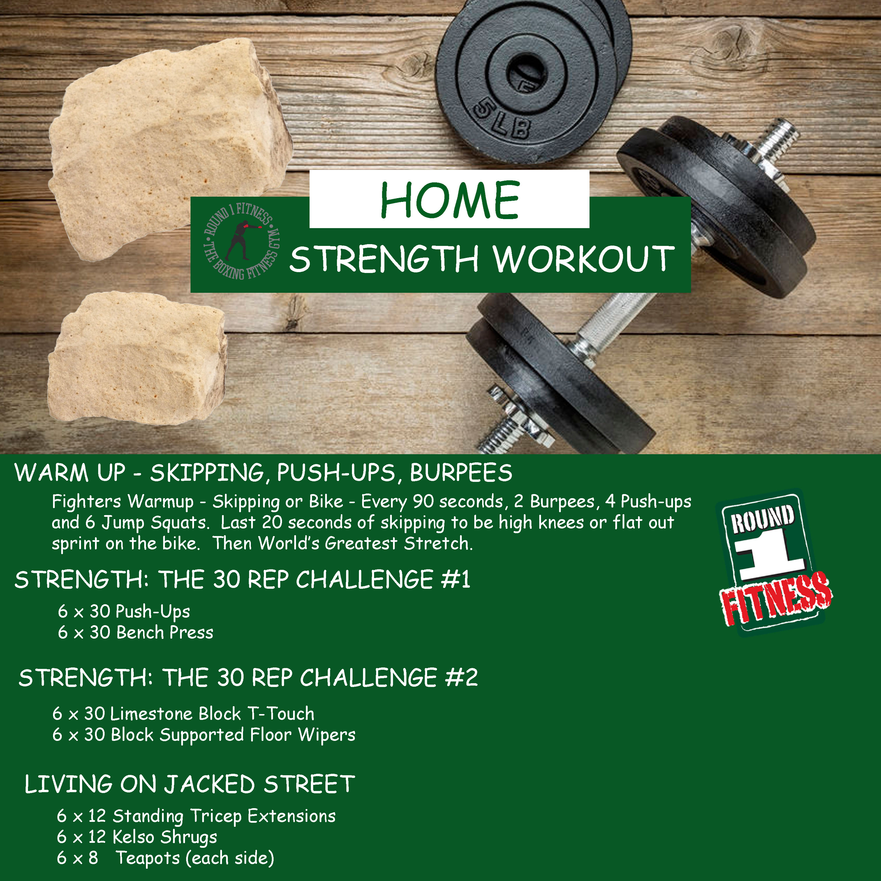 Home Workout:  Wednesday, May 6th