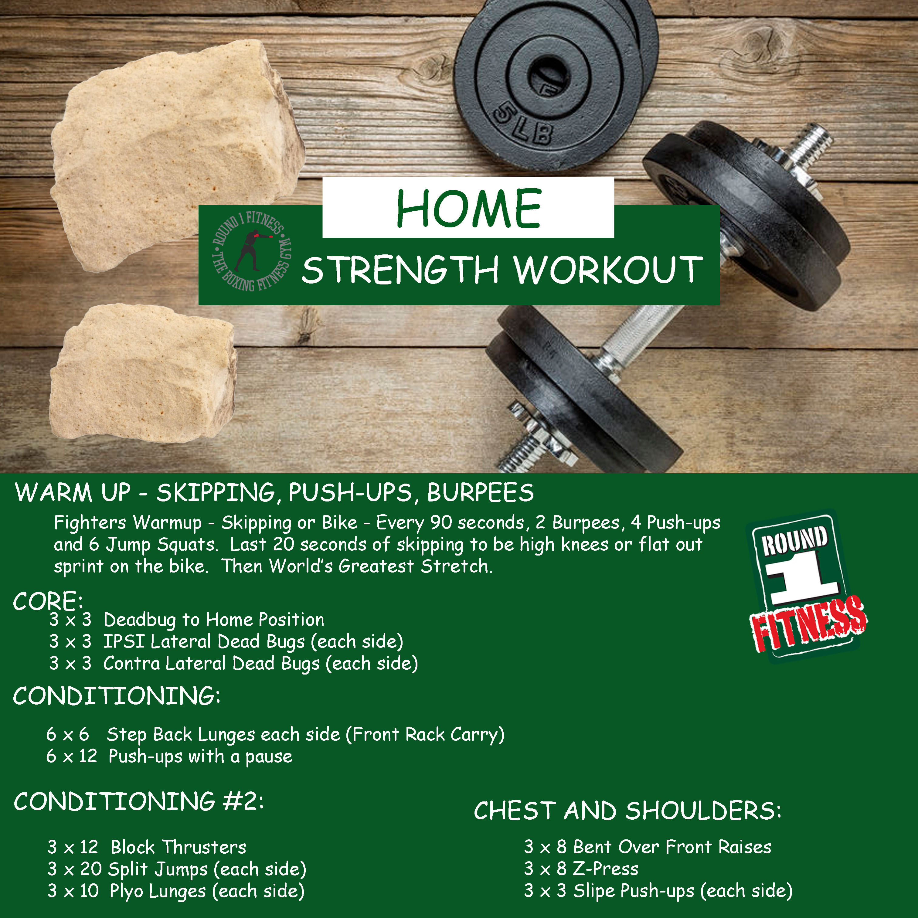 At Home Strength – Week 6, Day 5