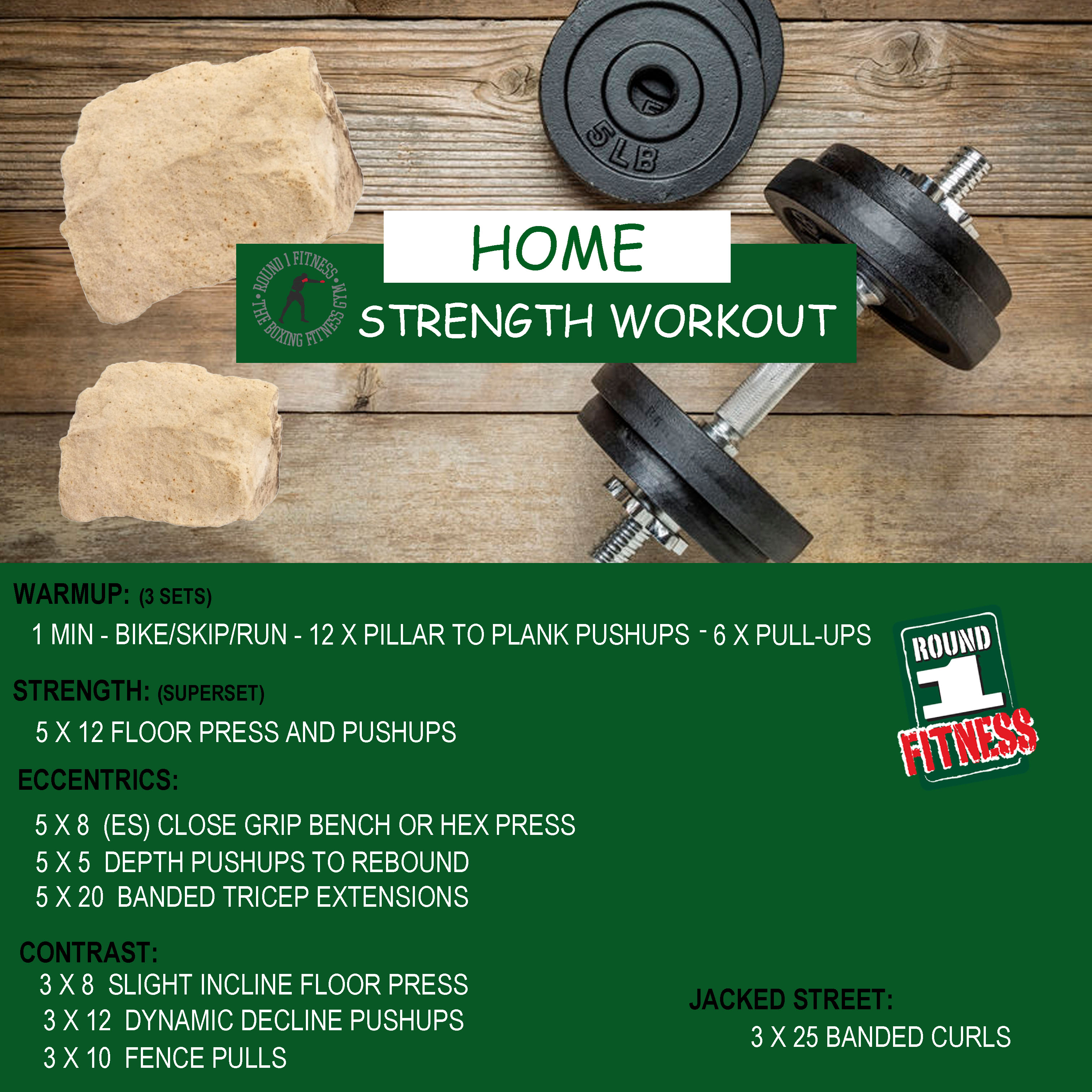COVID Lockdown#3 – Round 1 @ Home Strength – Workout 2, April 26th 2021