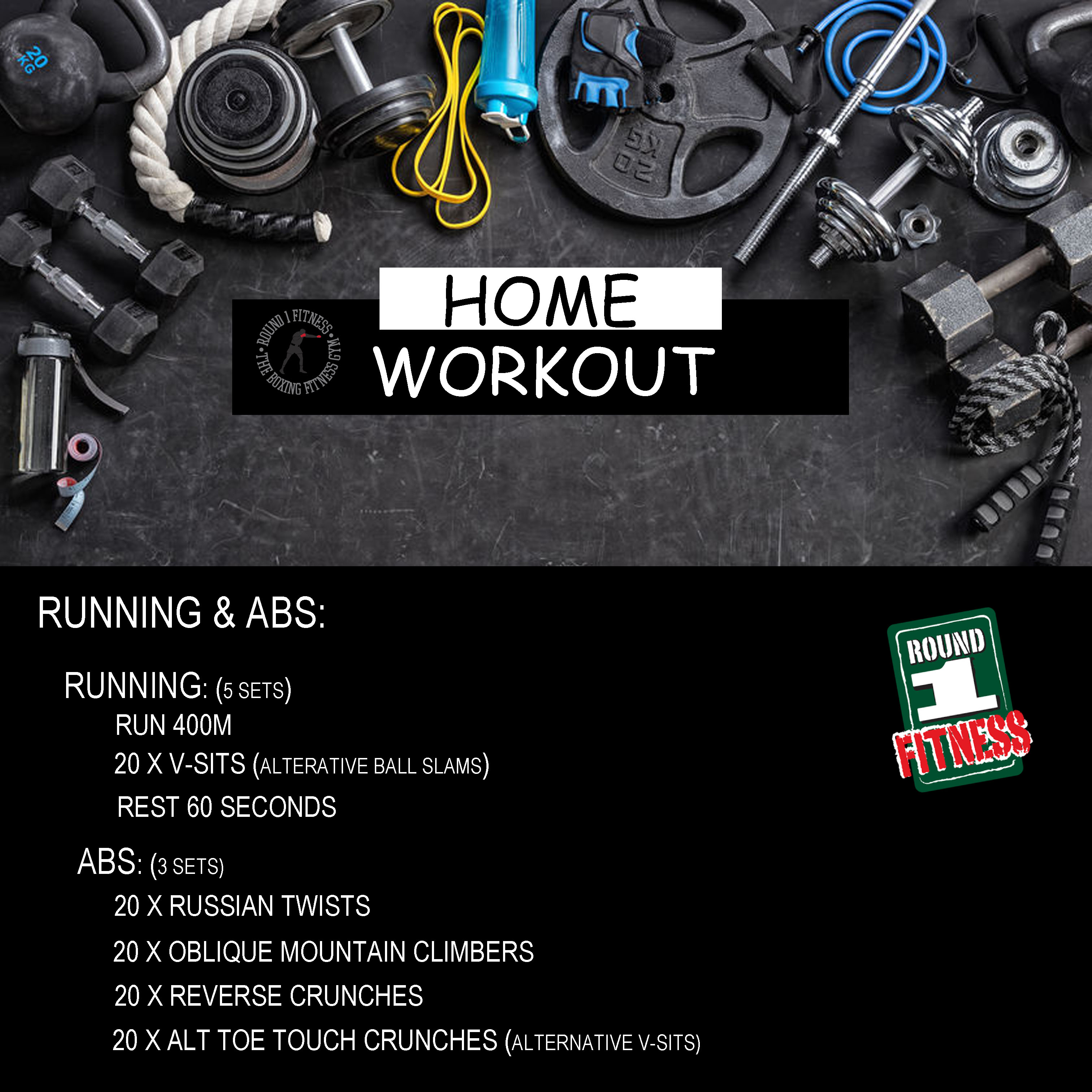 COVID Lockdown#3 – Round 1 @ Home – Workout 6, April 29th 2021