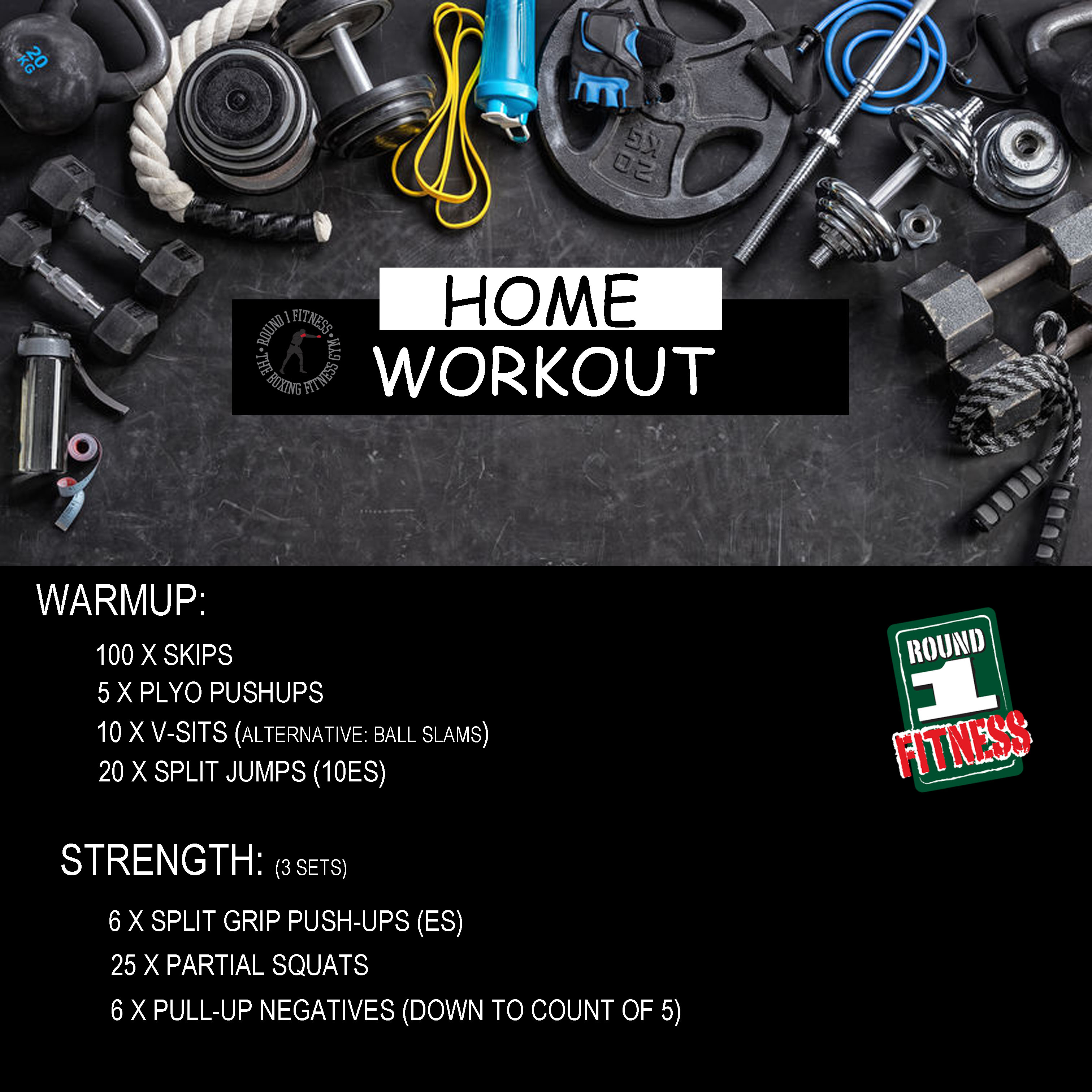 COVID Lockdown#3 – Round 1 @ Home – Workout 4, April 27th 2021