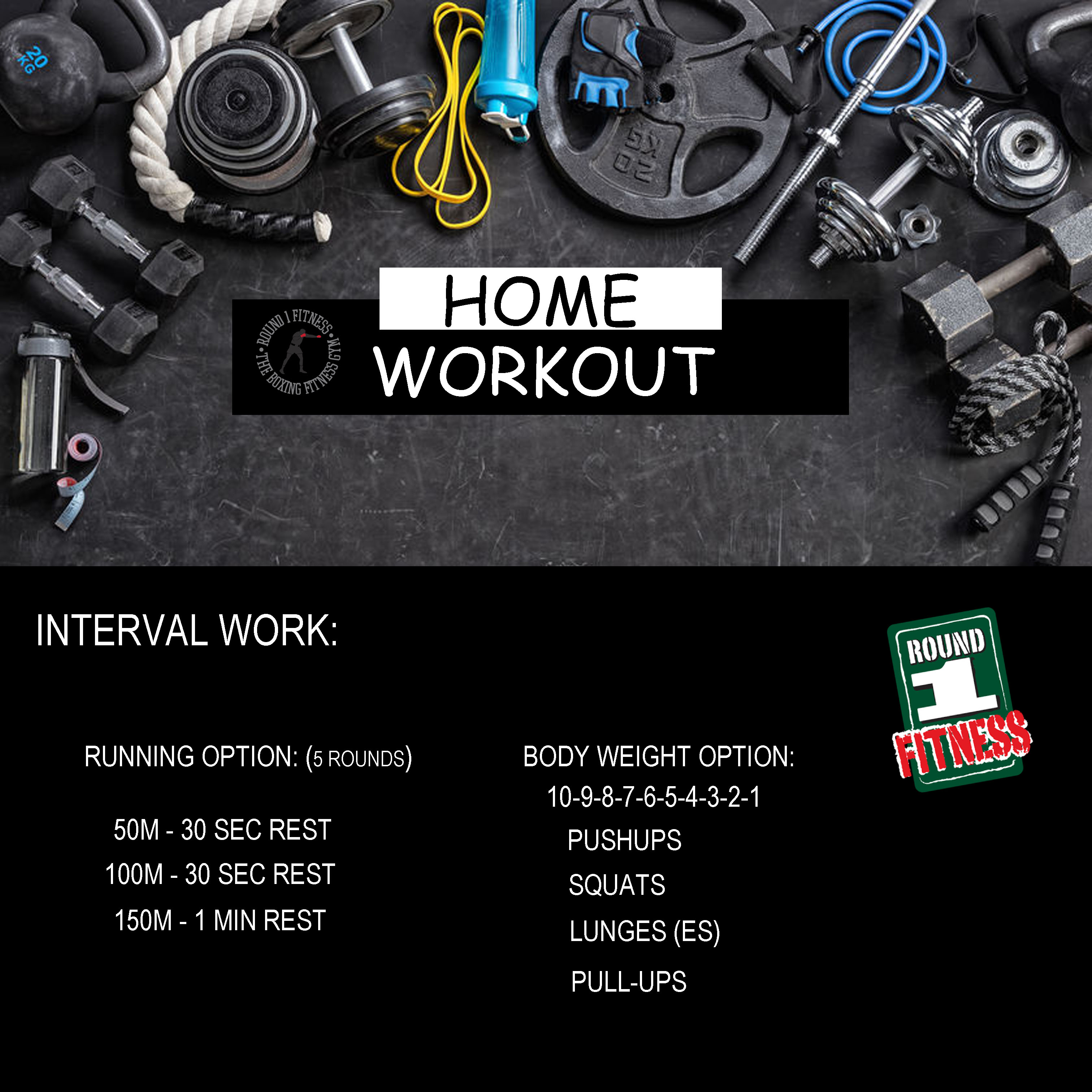 COVID Lockdown#3 – Round 1 @ Home – Workout 5, April 28th 2021
