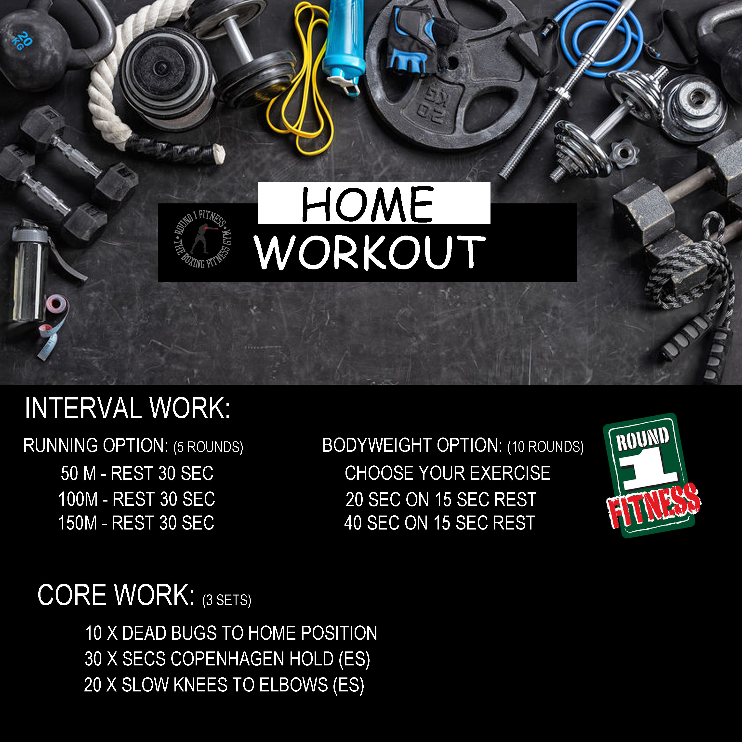 COVID Lockdown#3 – Round 1 @ Home – Workout 3, April 26th 2021