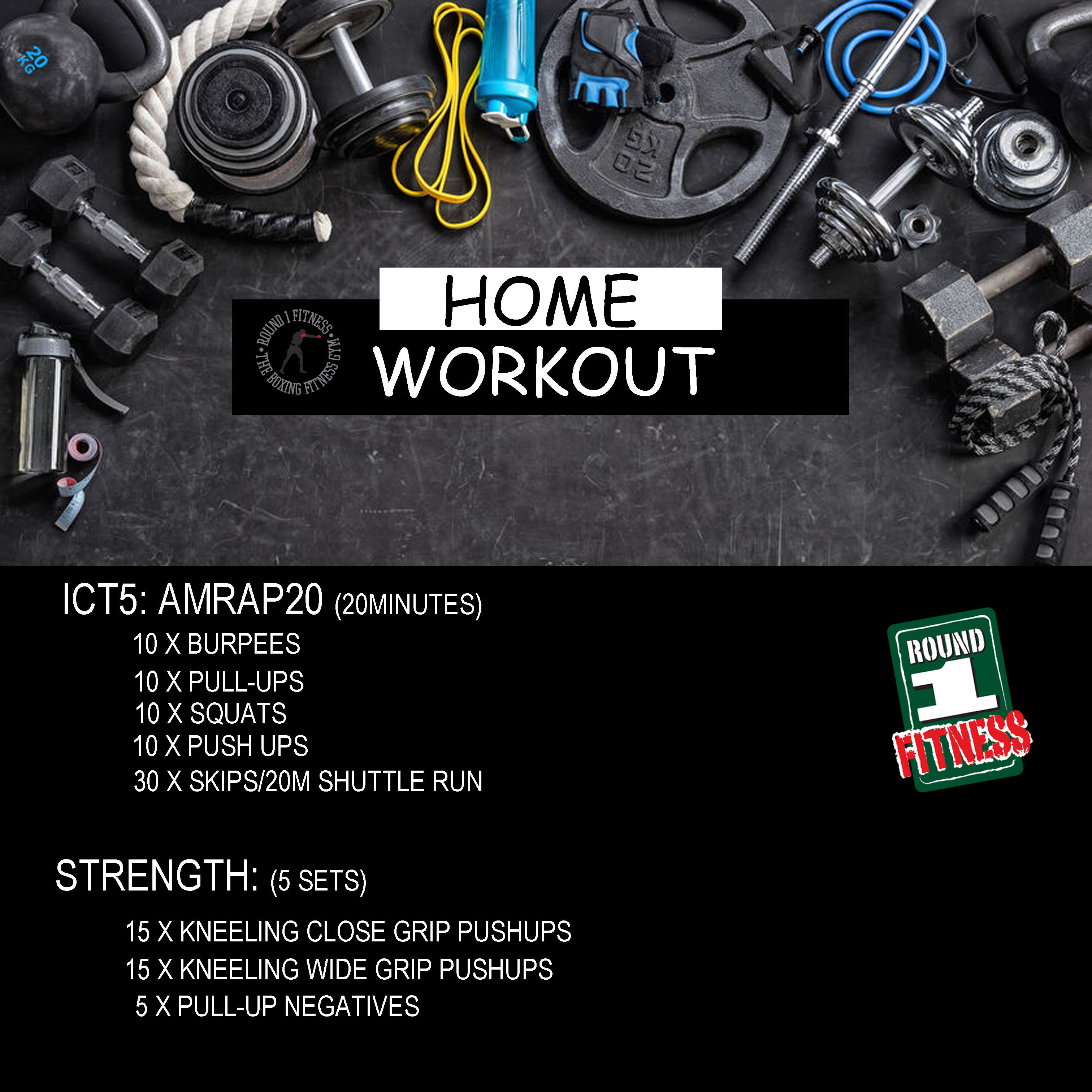 COVID Lockdown#3 – Round 1 @ Home – Workout 2, April 25th 2021