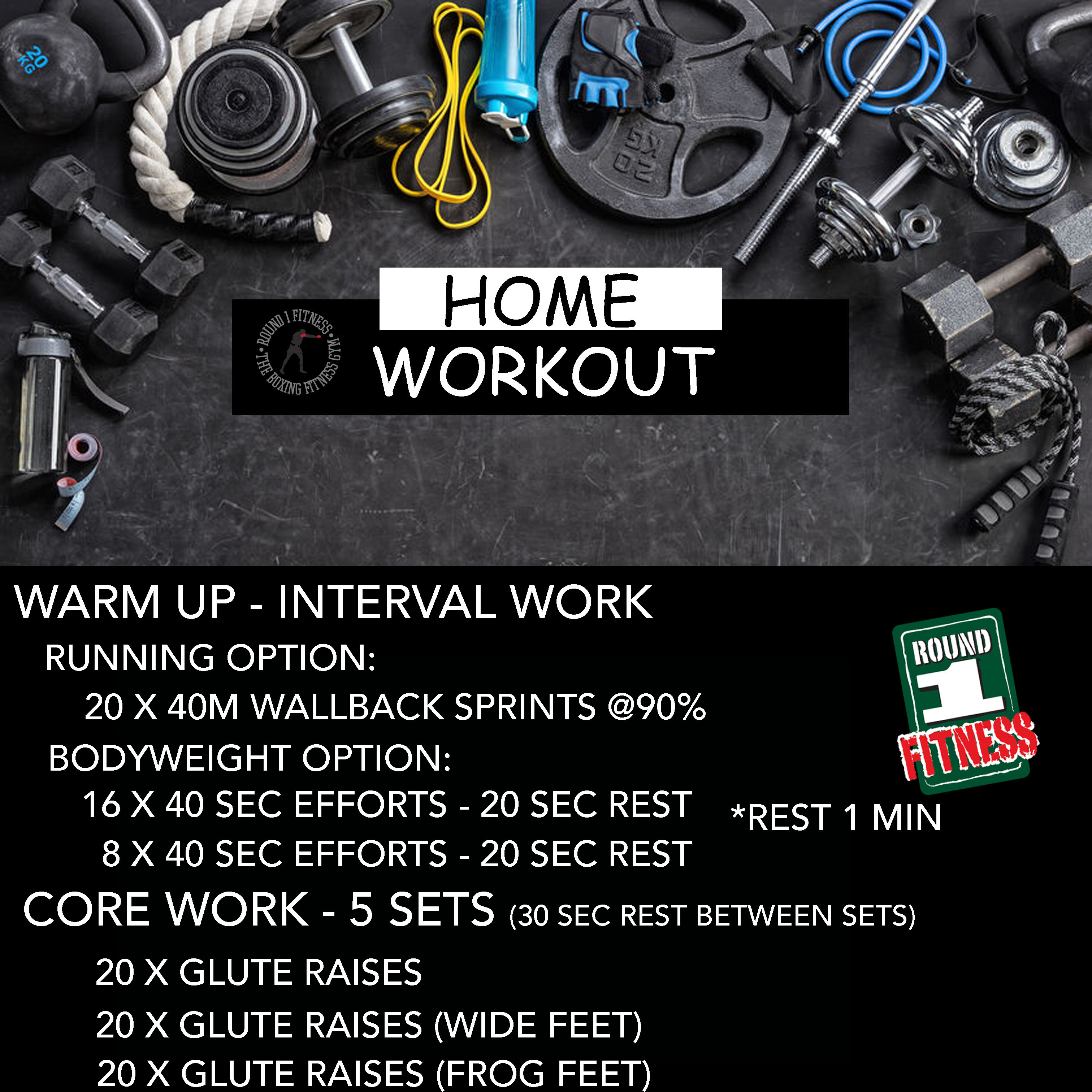 COVID Lockdown#4 – Round 1 @ Home – Workout 2, July 1st 2021