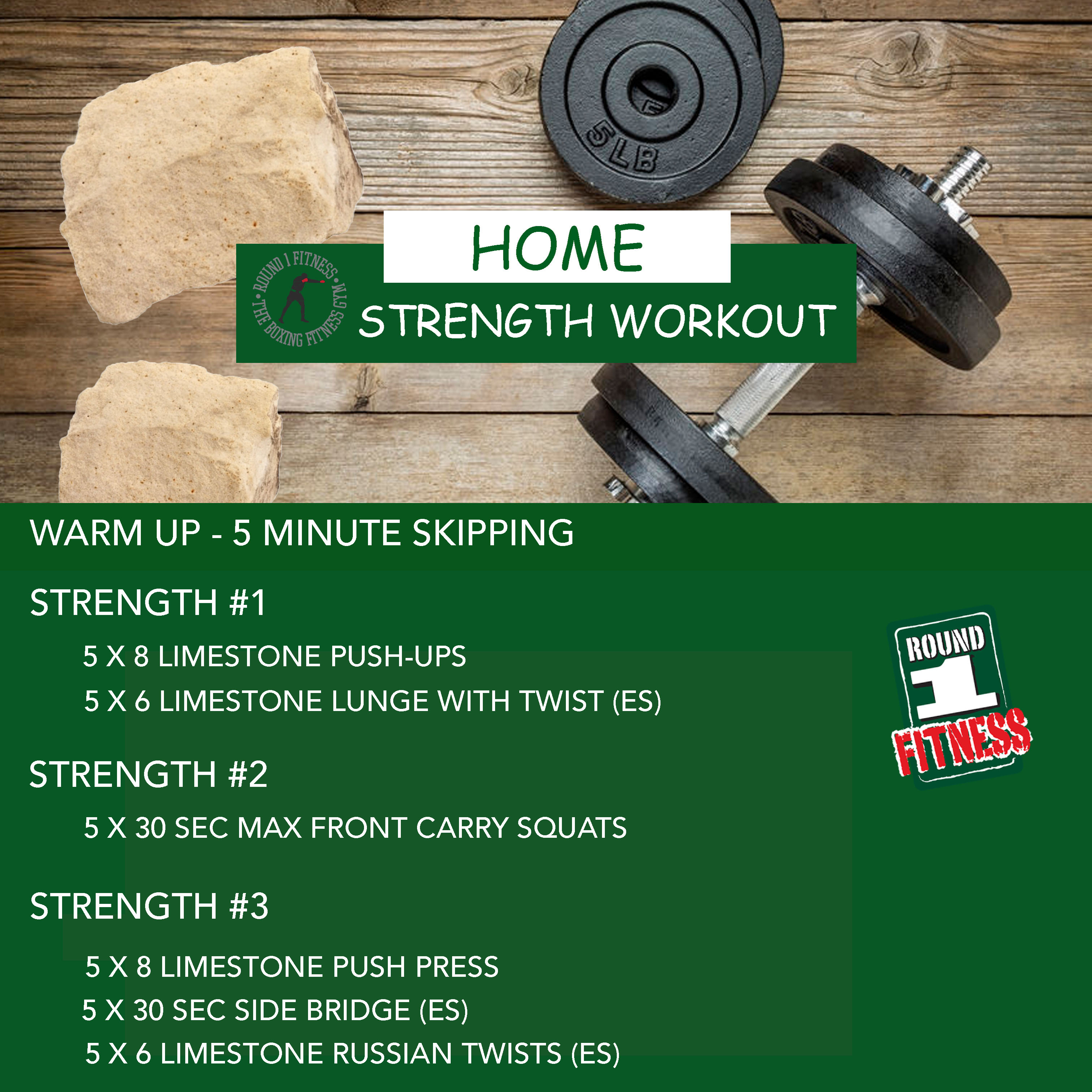COVID Lockdown#4 – Round 1 @ Home Strength – Workout 2, July 1st 2021