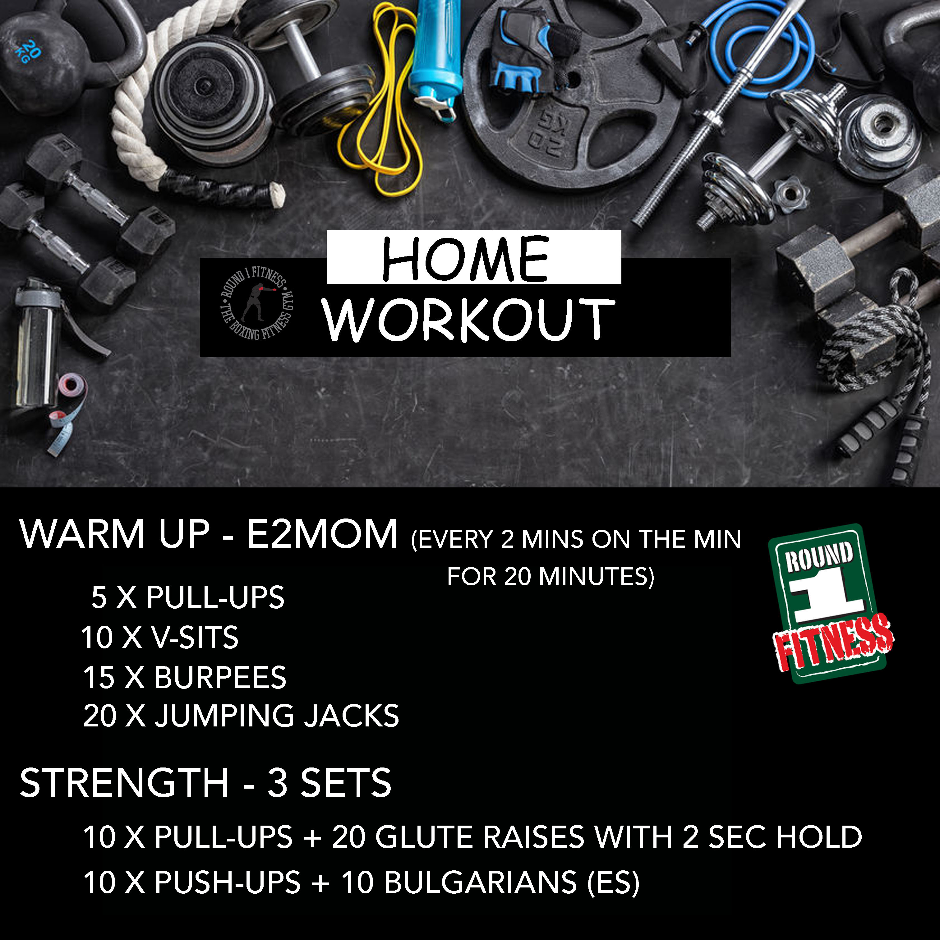 COVID Lockdown#4 – Round 1 @ Home – Workout 3, July 2nd 2021
